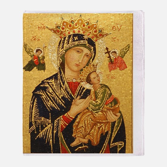 Our Lady of Perpetual Help Throw Blanket