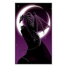 Purple Dragon Sticker (Rectangle)