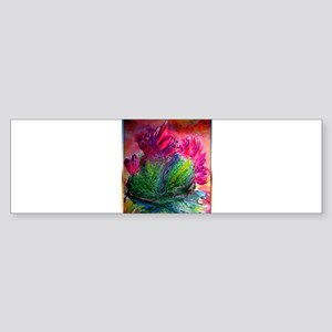Colorful cactus, southwest art Bumper Sticker