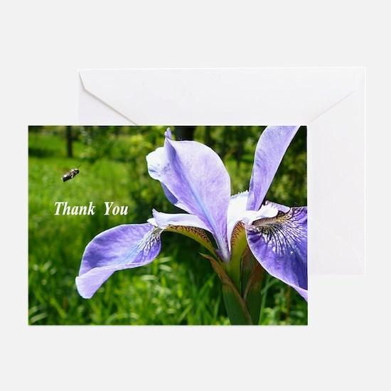 Purple Iris Greeting Cards