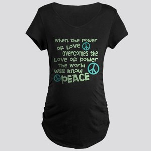 World Peace Maternity T-Shirt