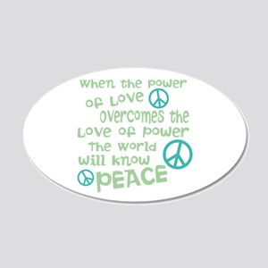 World Peace Wall Decal