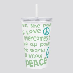 World Peace Acrylic Double-wall Tumbler