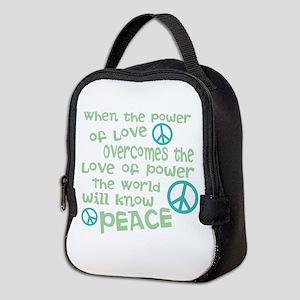 World Peace Neoprene Lunch Bag