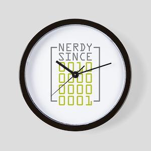 Nerdy Since 2001 Wall Clock
