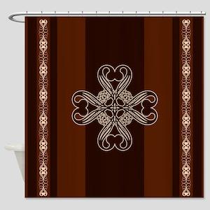 Royal Emblem Coffee Shower Curtain