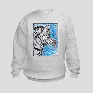 Zebra, colorful wildlife art Sweatshirt
