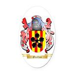 Grafton Oval Car Magnet