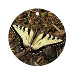Summer Tiger Swallowtail Butterfly Ornament (Round