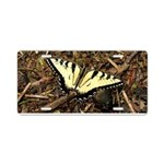 Summer Tiger Swallowtail Butterfly Aluminum Licens