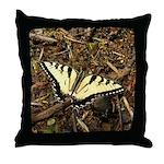 Summer Tiger Swallowtail Butterfly Throw Pillow