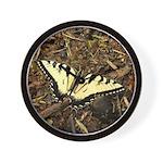 Summer Tiger Swallowtail Butterfly Wall Clock
