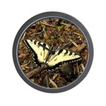 Summer Tiger Swallowtail Butterfly Wall Clock