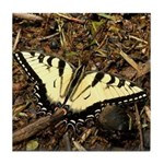 Summer Tiger Swallowtail Butterfly Tile Coaster