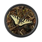Summer Tiger Swallowtail Butterfly Large Wall Cloc