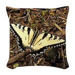 Summer Tiger Swallowtail Butterfly Woven Throw Pil