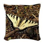 Summer Tiger Swallowtail Butterfly Woven Throw Pil