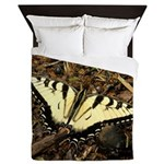 Summer Tiger Swallowtail Butterfly Queen Duvet