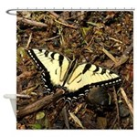 Summer Tiger Swallowtail Butterfly Shower Curtain