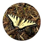Summer Tiger Swallowtail Butterfly Round Car Magne