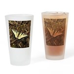 Summer Tiger Swallowtail Butterfly Drinking Glass