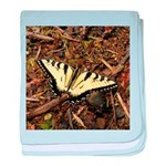 Summer Tiger Swallowtail Butterfly baby blanket