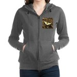 Summer Tiger Swallowtail Butterfly Women's Zip Hoo