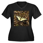 Summer Tiger Swallowtail Butterfly Plus Size T-Shi