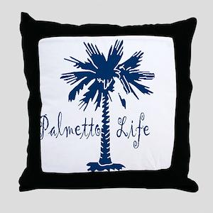 Blue Palmetto Life Throw Pillow