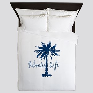 Blue Palmetto Life Queen Duvet