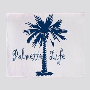 Blue Palmetto Life Throw Blanket