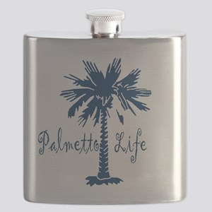 Blue Palmetto Life Flask