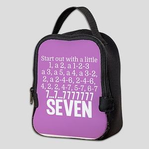Pink Seven Neoprene Lunch Bag