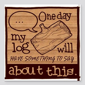 "Log Lady Square Car Magnet 3"" x 3"""