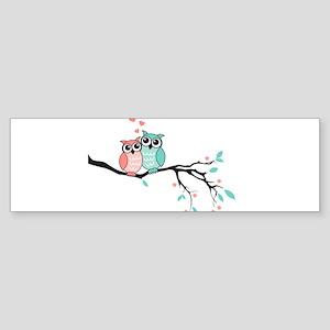 Cute owls in love Bumper Sticker