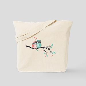 Cute owls in love Tote Bag