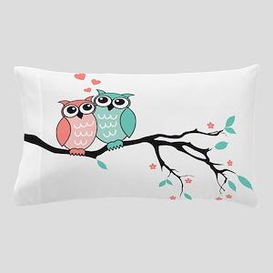 Cute owls in love Pillow Case