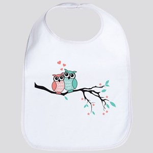 Cute owls in love Bib