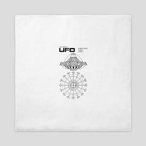 UFO Blueprint Queen Duvet