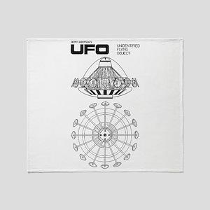UFO Blueprint Throw Blanket