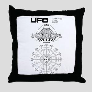 UFO Blueprint Throw Pillow