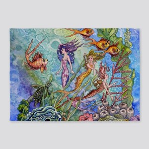 Mermaid 5'x7'Area Rug