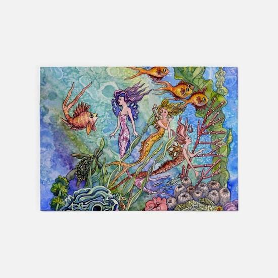 Mermaid 5'x7'Area Rug