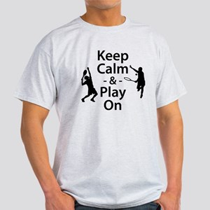 Keep Calm and Play On (Tennis) T-Shirt