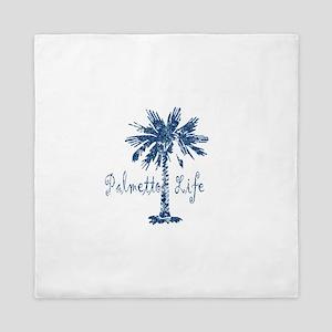 Blue Palmetto Life Queen Duvet