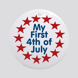 First 4th of July Ornament (Round)