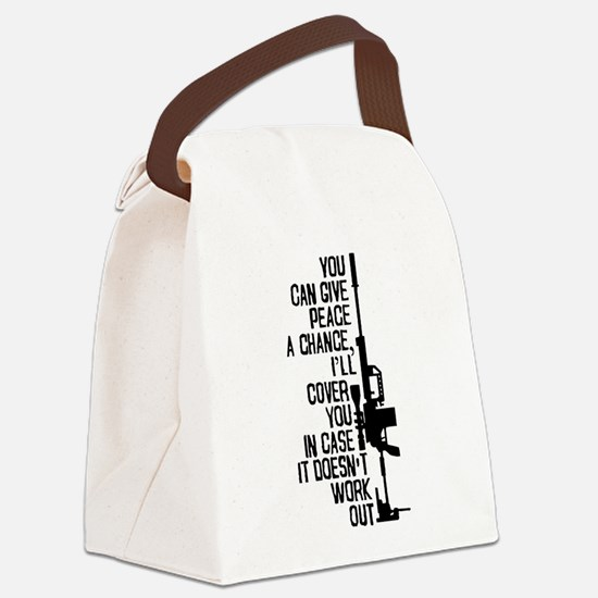 You Can Give Peace a Chance Canvas Lunch Bag