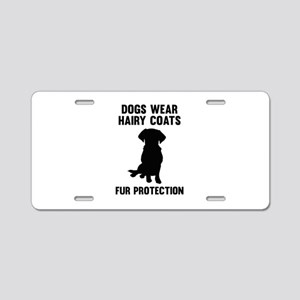 Fur Protection Aluminum License Plate