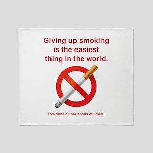 Giving Up Smoking Stadium Blanket