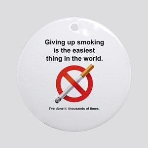 Giving Up Smoking Ornament (Round)